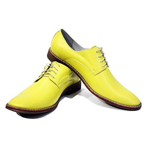 Modello Mazara - Cuero Italiano Hecho A Mano Hombre Piel Oro Zapatos Vestir Oxfords - Cuero Cuero suave - Encaje