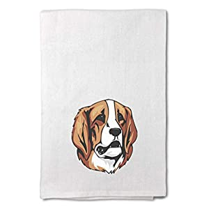 Style In Print Custom Decor Flour Kitchen Towels Pyrenean Mastiff Head Pets Dogs Cleaning Supplies Dish Towels Design Only 15