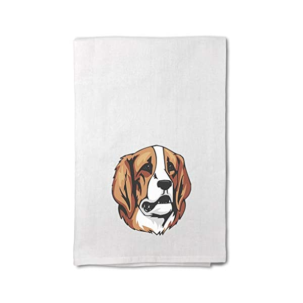 Style In Print Custom Decor Flour Kitchen Towels Pyrenean Mastiff Head Pets Dogs Cleaning Supplies Dish Towels Design Only 1