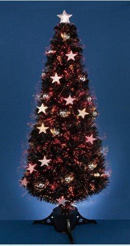 Tannenbaum 120 Cm.Weihnachtsbaum Tannenbaum 120 Cm Stern Christbaum Mit Farbwechselnden Lichtfasern Led Glasfaser