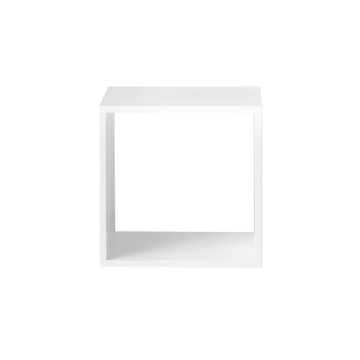 /Étag/ère Cube M Blanc Muuto Sans Fond Stacked