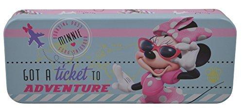 Disney Minnie Mouse - Metal Tin Case Pencil Box (BLUE)