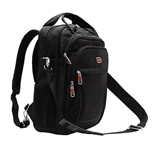 pack, 15.6 Inch Multi-function Business Messenger Convertible Backpack Shoulder Laptop School Bookbag.(Black) (Oversize Laptop Backpack)