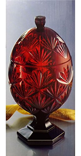 Luminarc Ruby Egg Candy Dish 8 1/2
