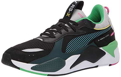 PUMA Men's RS-X Sneaker, Black-Blue ATOL, 10 M US (Transformers Tennis Shoes)