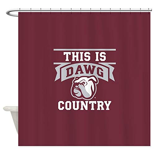 Dongingp Mississippi State Bulldog Mascot Da Decorative Fabric Shower Curtain (69