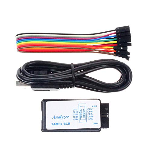 (Comidox 1Set USB Logic Analyzer Device Set USB Cable 24MHz 8CH 24MHz 8 Channel UART IIC SPI Debug for Arduino ARM FPGA M100 Hot)