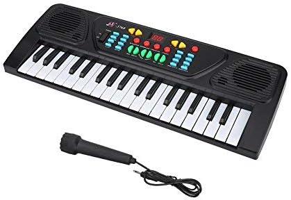 Teclado Electrónico de 37 Teclas, Multifuncional Teclado Electrónico con Micrófono Juguete de Educación Musical para Niños Principiantes