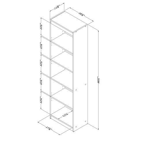 The Axess Narrow 71' Bookcase Laminate Bookshelf (Royal Cherry)