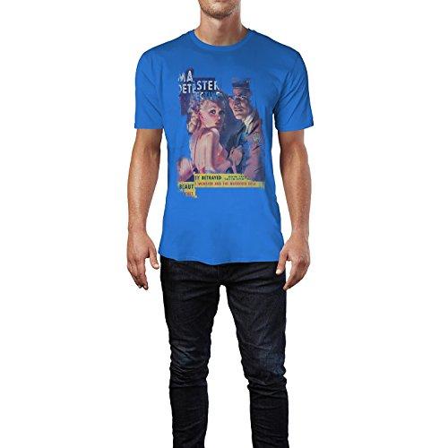 SINUS ART® The Monster and the Murdered Bride Herren T-Shirts stilvolles royal blaues Fun Shirt mit tollen Aufdruck