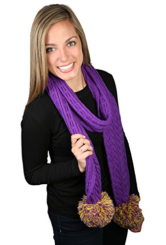 Game Day (College High School) CC Spirit Pom Scarf - Purple & (Best College Mascot Costumes)