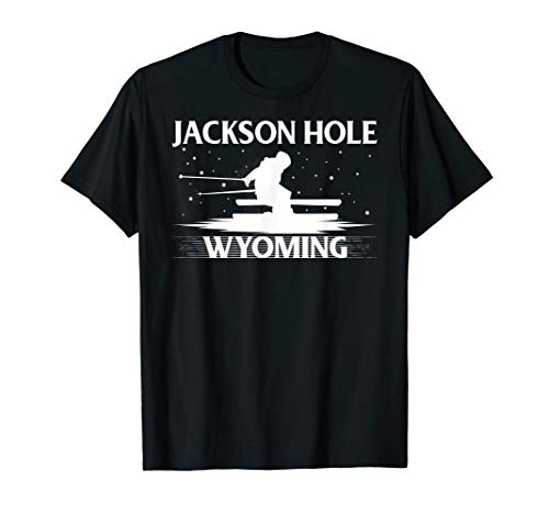 Vintage Wyoming Skiing Snowboard Ski Jackson Hole T-Shirt ()