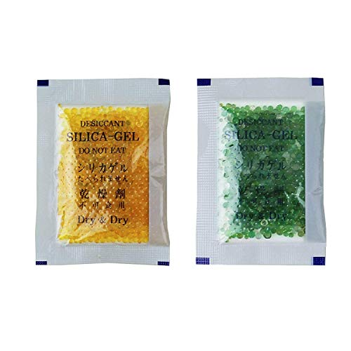 (Dry & Dry 10 Gram [25 Packets] Premium Orange Indicating(Oranage to Dark Green) Silica Gel Packets Desiccant Dehumidifier - Rechargeable Silica Packets for Moisture )