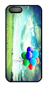 Colored hot air balloon PC Case Cover for iPhone 5 and iPhone 5s Black Halloween gift by Maris's Diary