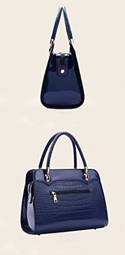 Clutch A Borsa Ladies Blue1 Pattern Handbag Crocodile Surface Bag Blue1 Individuality Dinner Bag Fashion MYLL Tracolla Paint FIzqCF