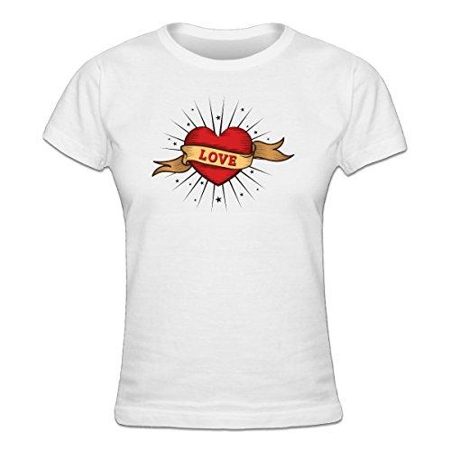 Shirtcity Love Old School Tattoo Women's T-shirt L White