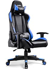 UMI. Essentials Gaming Chair Racing Chair Ergonomic Office Chair Computer Chair Adjustable Height With Headrest and Lumbar Support