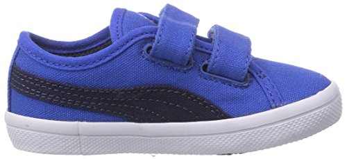 Puma Elsu F Canvas V Kids - zapatilla deportiva de lona infantil azul - Blau (strong blue-peacoat 02)