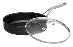 Starfrit 060318-003 Deep Fry Pan With Glass Lid, 11\