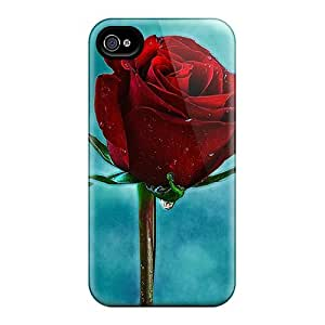 New Diy Design Red Rose For Iphone 4/4s Cases Comfortable For Lovers And Friends For Christmas Gifts