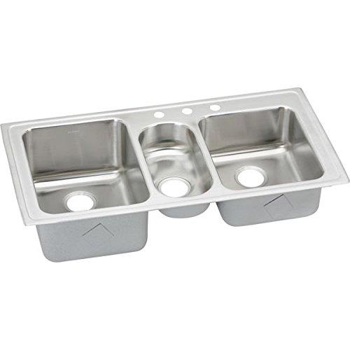 18 Gauge Stainless Steel 43' X 22' X 10' Triple Bowl Top Mount Kitchen Sink