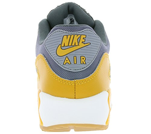 Nike Air Max 90 616730, Sneaker Da Donna Low-top Grigio (grigio Scuro / Stlth-gld Lf-smmt Wht)