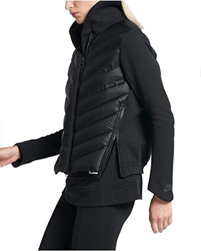 Nike Sportswear Tech Fleece Aeroloft Women's Black Down Bomber Jacket (Medium)