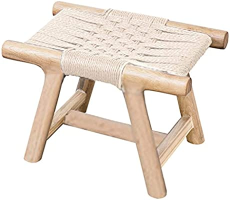 Astonishing Pure Solid Wood Hand Woven Leather Rope Changing His Shoes Machost Co Dining Chair Design Ideas Machostcouk