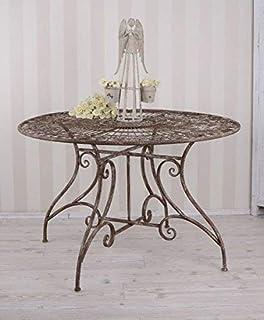 Amazon De Nostalgie Tisch Gartentisch Bistrotisch Eisen 13kg Antik