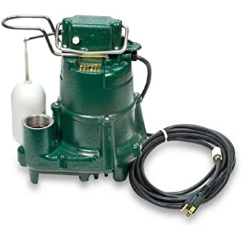 Zoeller 98-0001 115-Volt 1/2 Horse Power Model M98 Flow-Mate Automatic Cast Iron Single Phase Submersible Sump/Effluent Pump