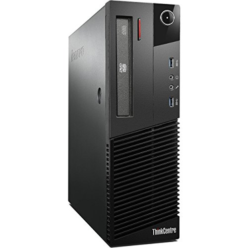 2017 Lenovo ThinkCentre M73 SFF Small Form Factor Business Desktop Computer, Intel Quad-Core i3-4130 3.4GHz, 8GB RAM, 500GB HDD, USB 3.0, DVD, WiFi, Windows 10 Professional (Certified Refurbished) by Lenovo