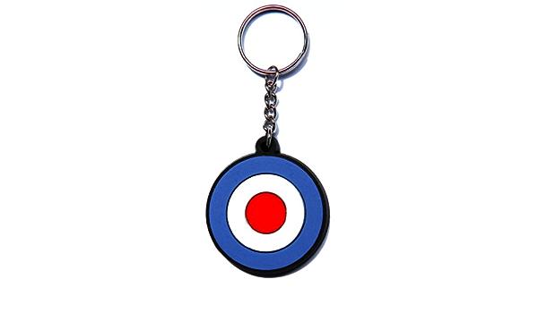 Mod Target Diana llavero Key Ring Caucho Goma también como colgante para funda