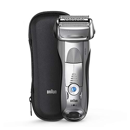 Braun Series 7 Electric Shaver for Men 7893s, Wet & Dry, Integrated Precision Trimmer, Rechargeable and Cordless Razor, with Travel Case - Silver