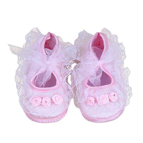 für 0-12 Monate Baby, Ularmo Rose Blumen Neugeborenes Babyschuhe (10/0-3 Monate, Rosa)