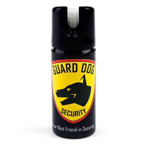 Guard Dog Security Pepper Spray Maximum Strength 18% OC Spray Tactical, Different Sizes (2 oz up to 5 oz) for self Defense, All Glow in The Dark, Protected for Life Program (2 Oz, GID) ()