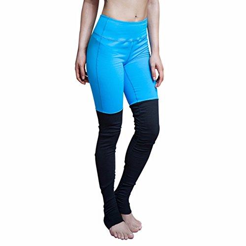 cross1946mallas medias de YOAG para mujer deporte danza torusers Pilates Leggings Blue&Black
