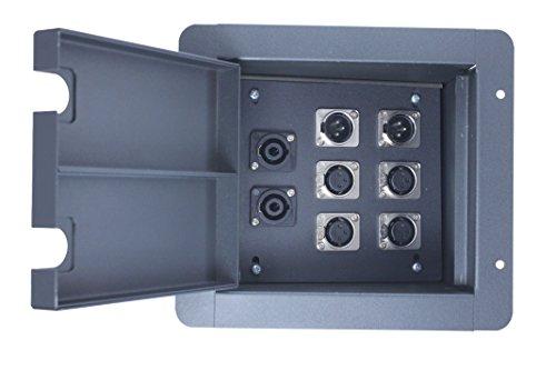 ge Floor Box Black (4-XLR Female + 2-XLR Male + 2-Speakon compatible jacks) ()