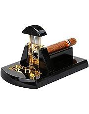 Luxury Desktop Guillotine Metal Stainless Steel Cigar Knife Desktop Solid Wood Cigar Scissors Thicker Cigar Cutter