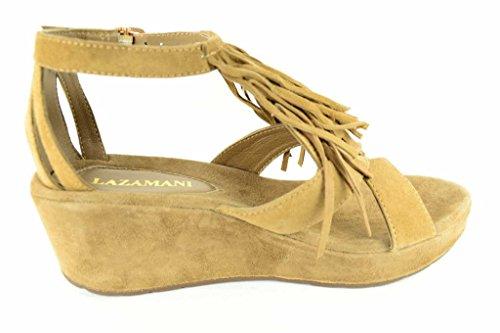 Lazamani 75.365-1 - Sandalias de vestir para mujer Beige