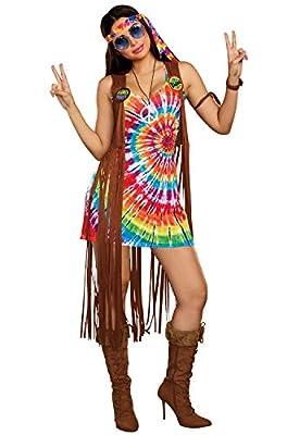 Dreamgirl Women's 1960's Tie-Dyed Hippie Hottie