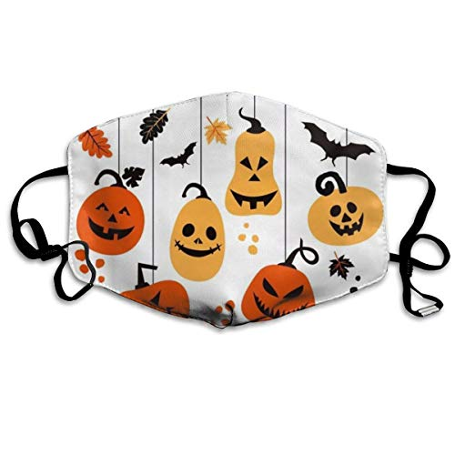 Tuoneng Hanging Pumpkins for Halloween Printed Mouth Masks Anti-dust Masks Reusable Face Mask]()