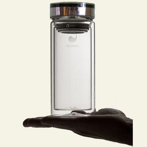 Aquaovo - Glass Thermos, 16 oz glass thermos by Aquaovo