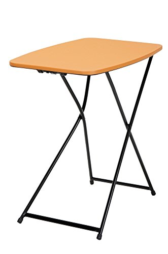 "Cosco Products 18"" x 26"" Indoor Outdoor Adjustable Height Personal Folding Tailgate Table, Orange, 2-Pack Orange"