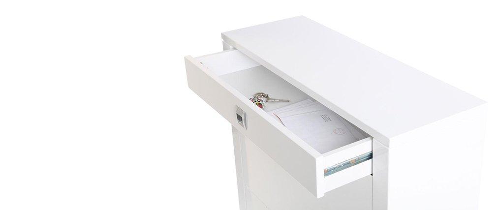 Miliboo Meuble à Chaussures Design Laqué Blanc Deva Amazonfr