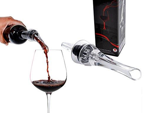 Vergiano Wine Aerator Pourer & Decanter Spout - Premium Quality Red Wine Decanter - Drip Free Diffuser