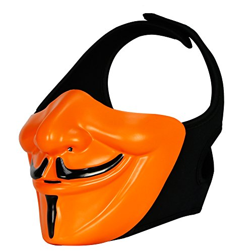 ATAIRSOFT Airsoft Demon Tactical Protective Half Face Mask For Paintball Plastic Cosplay Costume Party CS Game Motorcycle -