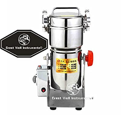 300g electric stainless steel grain mill grinder family medicial powder machine commercial electric grinder Cereals grain Mill Herb Grinder,pulverizer 110v/220v gift for mom, wife