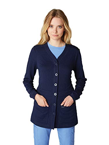 koi 440 Women's Claire Knit Scrub Jacket Navy 2XL