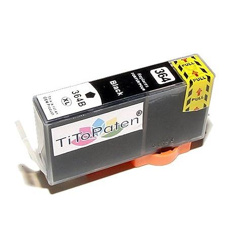 *TiToPaten®* Druckerpatrone kompatibel für HP 364 XL 364XL black mit Chip und Füllstand