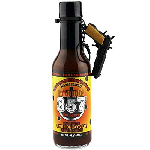 Mad Dog 357 Limited Edition Hot Sauce with M1911 Gun Keychain 5oz